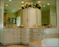Custom made bathroom vanity by RJ Fine Woodworking