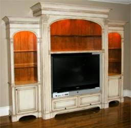 custom made entertainment center in traditional style