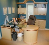 home office in maple  custom made by RJ Fine Woodworking