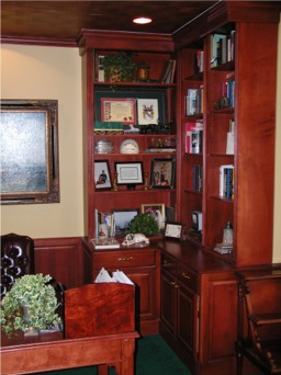 home office corner file cabinets  custom made by RJ Fine Woodworking