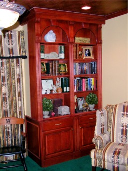 Custom made home office library cabinet by RJ Fine Woodworking