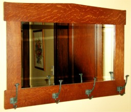 craftsman mirror custom made  by RJ Fine Woodworking