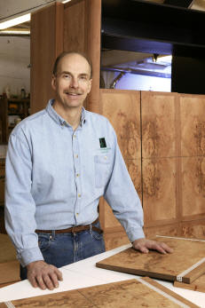 RJ Spomer artisan for RJ Fine Woodworking designer of custom fine furniture