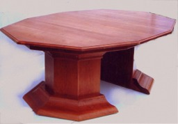 Chery pedestal base  dinning table