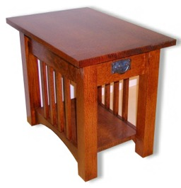 custom made craftsman style end table