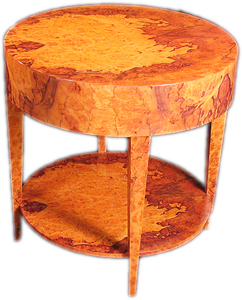 custom made burled end table