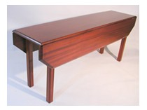 Shaker style drop leaf harvest Table by RJ Fine Woodworking