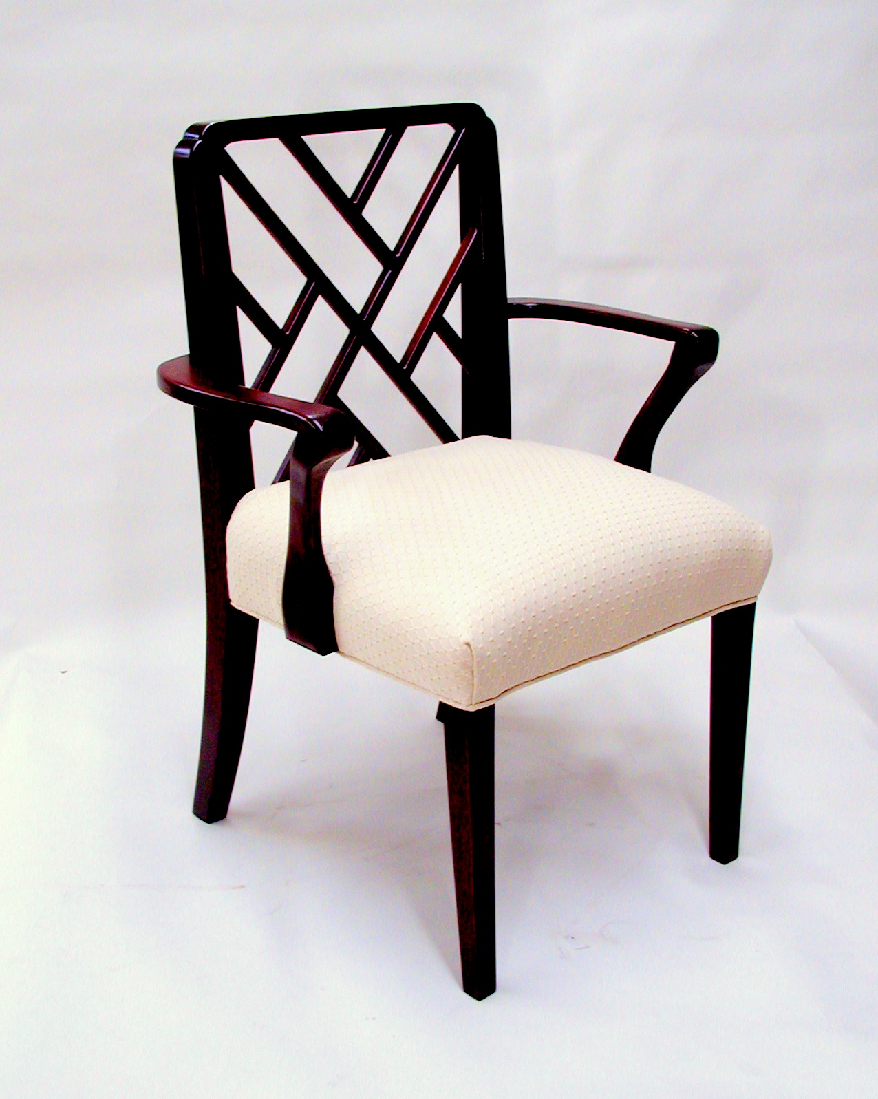 custom mahogany out of Africa side chair RJ Fine Woodworking