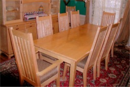 High Quality Tiger Maple Dining Room Set. Custom Madetiger Maple Dinning Room