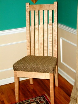 custom craftsman side chair RJ Fine Woodworking