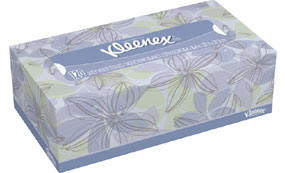Kleenex regular size tissues box