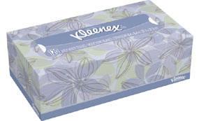 Kleenex regular size tissues box
