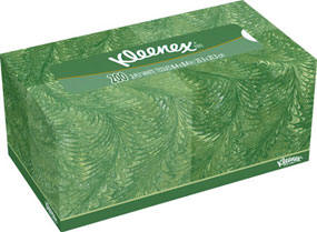 tissue box in kleenex family size