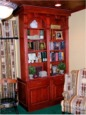 custom library cabinet for a home office by RJ Fine Woodworking